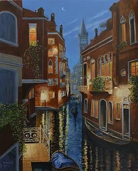 Venice at Dusk by David Hawkes