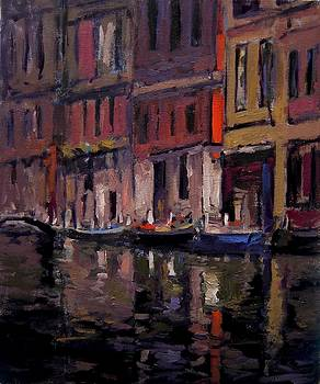 Venice at dusk by R W Goetting