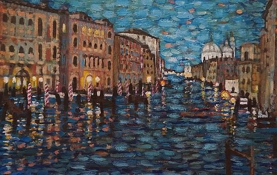 Venice at Night by Fran Steinmark