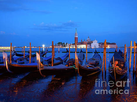 Venice at night Italy by Louise Heusinkveld