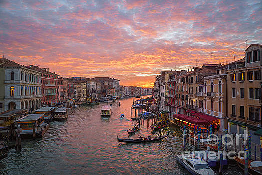 Venice at sunset - Italy by Jeffrey Worthington