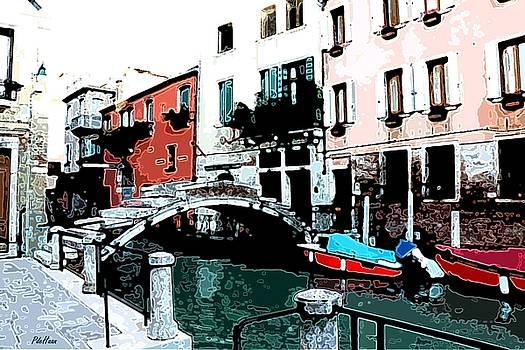 Venice Bridge II by Peggy De Haan