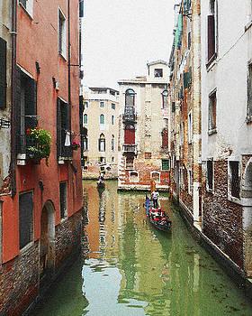 Venice Canal Colorful Italy by Irina Sztukowski
