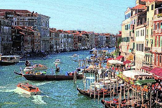Venice Canal by Peggy De Haan