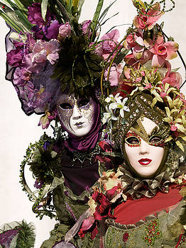 Venice Carnival Flowers by Steve Bisgrove