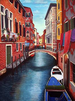 Venice Canal Bridge by Debra Dickson