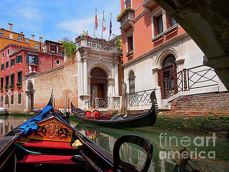 Venice from a gondola by Louise Heusinkveld