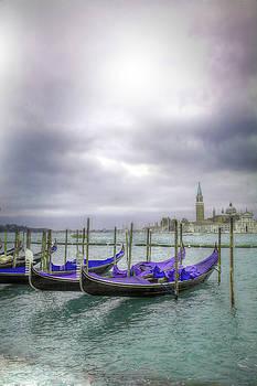 Venice Giudecca Gondolas by Matjaz Preseren