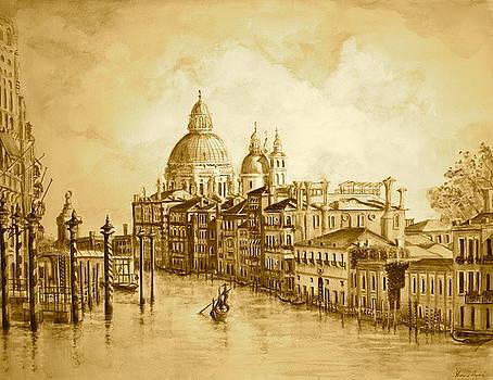 Yvonne Ayoub - Venice Grand Canal Sepia