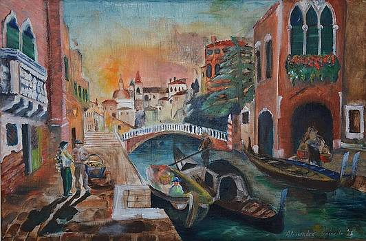 Venice In 1900s by Alex Spinello