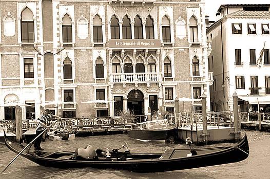 Venice hotel in sepia by Milan Mirkovic