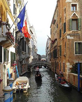 Venice Italy Busy Canal  by Irina Sztukowski
