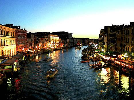 Venice Italy View from Rialto Bridge by MJ Cincotta