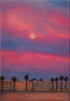 Venice moonrise by Pia Tohveri