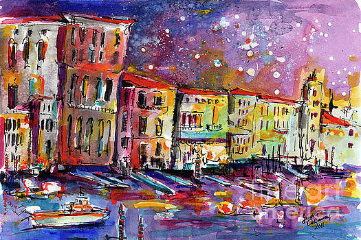 Ginette Callaway - Venice Reflections Celebrating Italy Painting