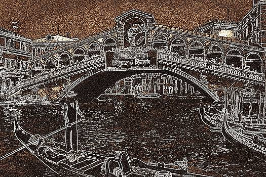 Art America Gallery Peter Potter - Venice Rialto Bridge Gondola