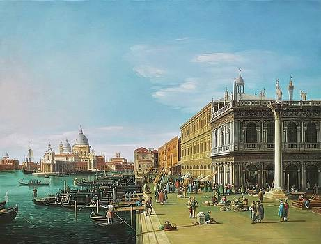 Venice, Santa Maria della Salute from the Piazzett by Canaletto by William Roberts