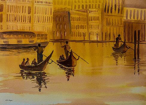 Venice Gondolas by Vickie Myers