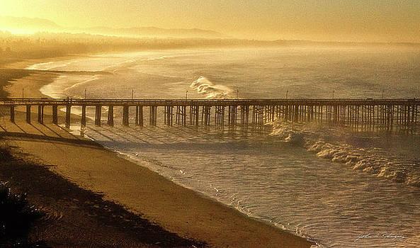 Ventura, CA Pier at Sunrise by John A Rodriguez