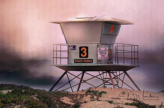 Ventura California Lifeguard Station by Norma Warden
