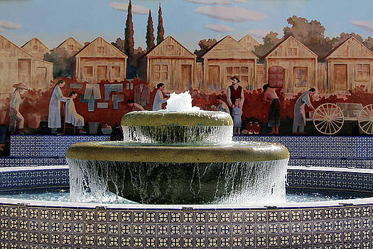 Ventura Fountain and Mural by Art Block Collections