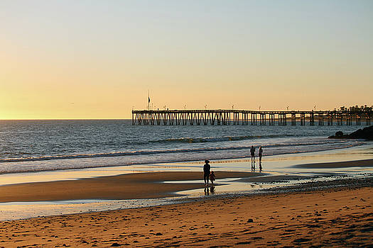 Ventura Pier at Sunset by Art Block Collections