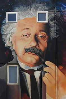 Venus Beach Public Mural of Einstein by Jeff Burgess