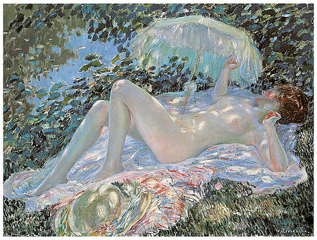 Frederick Frieseke - Venus in the Sunlight