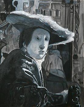 Vermeer Woman in a Red Hat colorblind version by Dan Koon