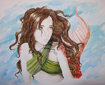 Vermillion Mermaid by Theresa Higby