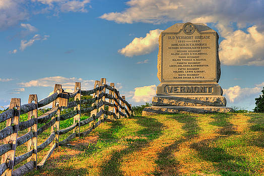 Vermont at Antietam - The Old Vermont Brigade - Mumma Lane, Antietam National Battlefield by Michael Mazaika