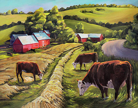Vermont Going For the Green on Jenne Farm by Nancy Griswold