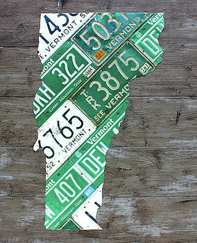 Design Turnpike - Vermont License Plate Map Art Edition 2017
