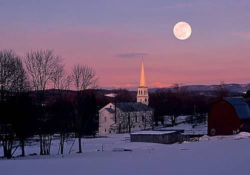 Vermont Moonrise by Philip Bobrow