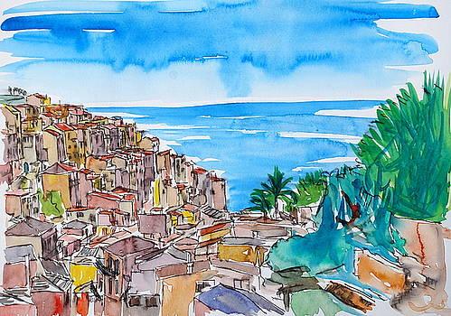 Manarola Colorful Cinque Terre on Italian Riviera by M Bleichner