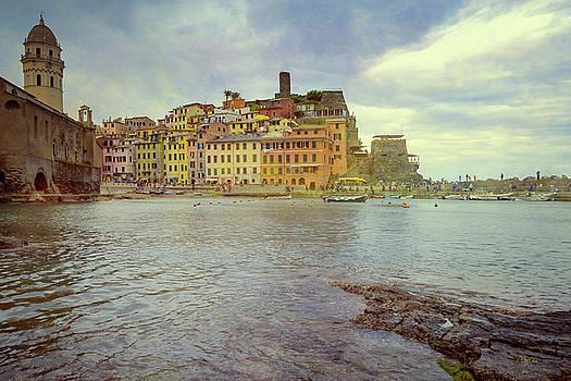Vernazza Harbor Cinque Terre Italy by Joan Carroll