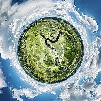 Vernon Marsh Tiny Planet by Randy Scherkenbach