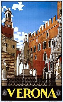 Verona Italy, travel poster for ENIT, 1938 by Vintage Printery