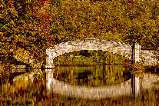 Verona Park Bridge Verona New Jersey by Geraldine Scull