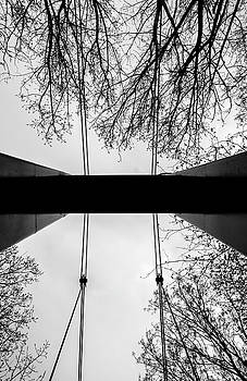 Vertical Bridge in BW by Nikos Stavrakas