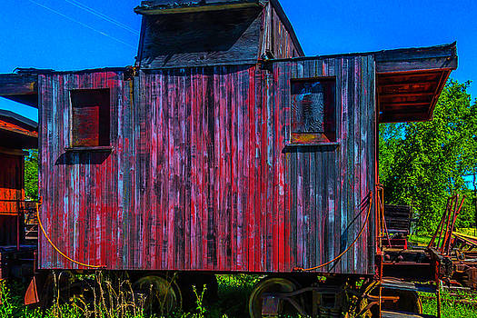 Very Old Worn Caboose by Garry Gay