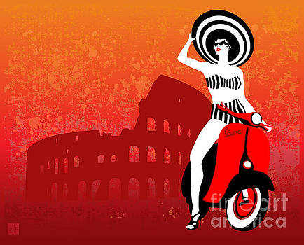 Vespa Girl by Sassan Filsoof