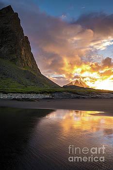 Vestrahorn Fiery Sunrise by Mike Reid