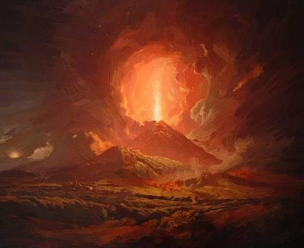 Wright Joseph - Vesuvius From Portici