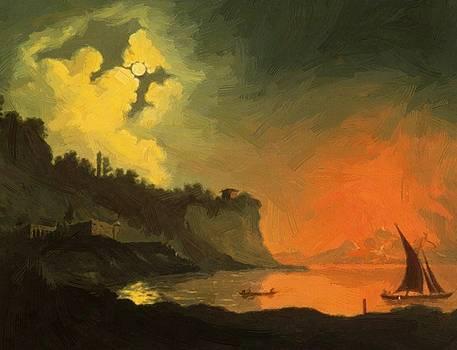 Wright Joseph - Vesuvius From Posillipo