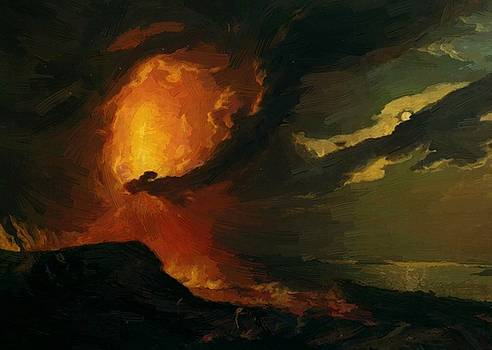 Wright Joseph - Vesuvius In Eruption With A View Over The Islands In The Bay Of Naples