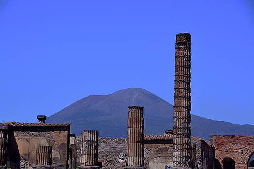 Vesuvius Over Pompeii by Tim Stringer