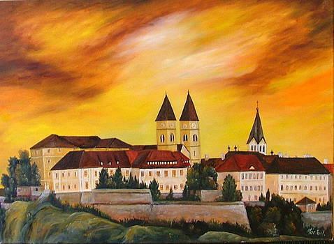 Veszprem castle by Ibolya Marton