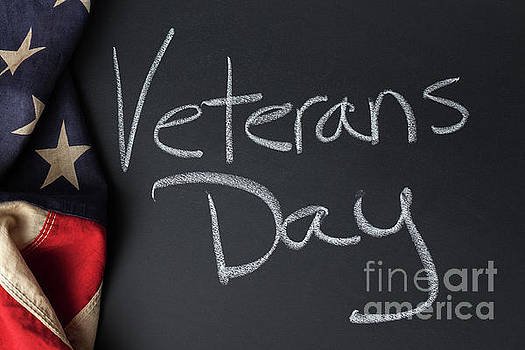 Veterans Day Sign by Leslie Banks