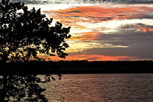 Veteran's Lake Sunset by Katherine Worley